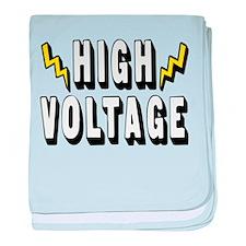 'High Voltage' baby blanket