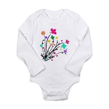 'Flower Spray' Long Sleeve Infant Bodysuit
