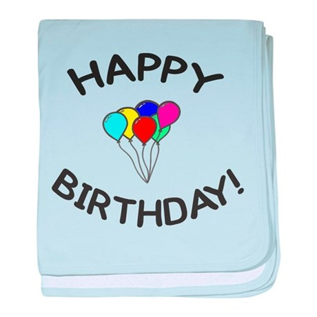 'Happy Birthday!' baby blanket