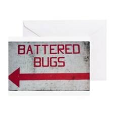 """""""Battered Bugs"""" Greeting Cards (Pk of 10)"""