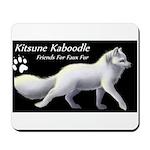 Kitsune Kaboodle Arctic Fox Mousepad