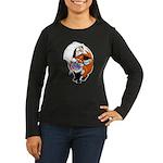 Lollipop Fox Women's Long Sleeve Dark T-Shirt