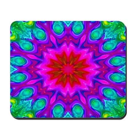 Peacock Flower Mousepad