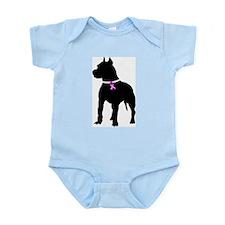 Pitbull Terrier Breast Cancer Infant Bodysuit