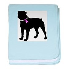 Rottweiler Breast Cancer Supp baby blanket