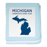 Cute Michigan baby blanket
