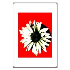 Red & Black Daisy Banner
