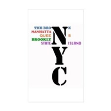 NYC Five Buroughs Decal