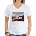 Mount Lowe Observatory Women's V-Neck T-Shirt