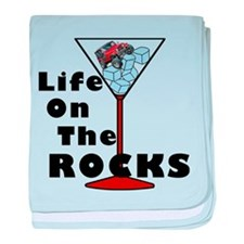 On Rocks Martini baby blanket