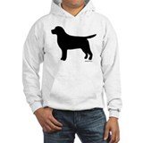 Black Lab Silhouette Hoodie Sweatshirt