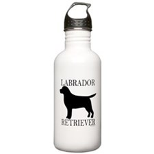 Black Labrador Retriever Water Bottle
