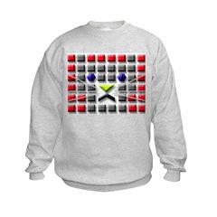 Cat Tiles Kids Sweatshirt
