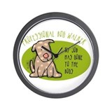 Funny Dog Walker Wall Clock