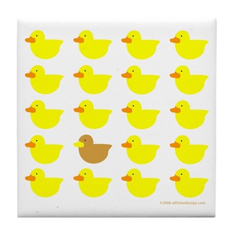One of These Ducks! Tile Coaster
