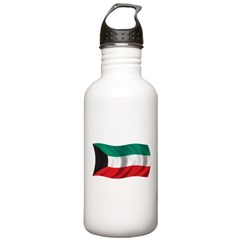 Wavy Kuwait Flag Stainless Water Bottle 1.0L