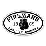 Firemans Pugilist Society Oval Decal