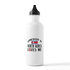 Somebody In North Korea Water Bottle