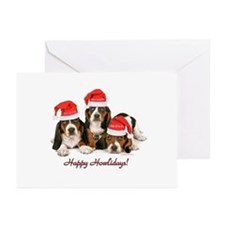 Basset Hound Christmas Greeting Cards (Pk of 10)