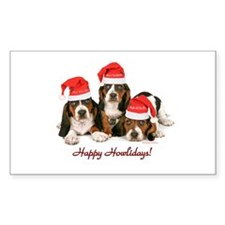 Basset Hound Christmas Decal