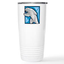 Polar bear drawing Travel Mug