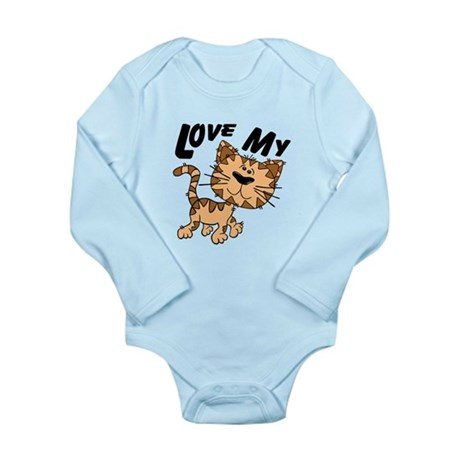 Love My Cat Long Sleeve Infant Bodysuit