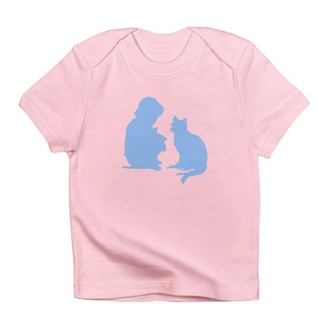 Child and Cat Infant T-Shirt