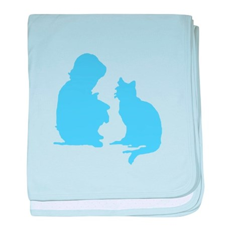 Child and Cat baby blanket