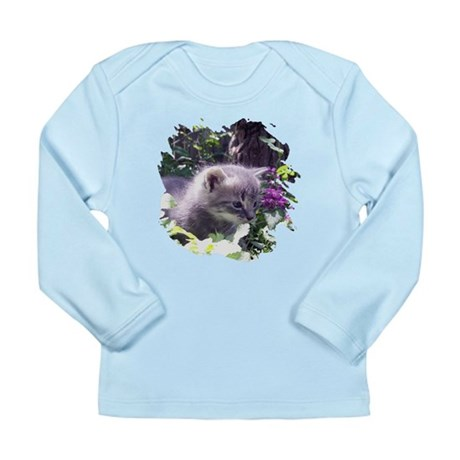 Gray Kitten Long Sleeve Infant T-Shirt