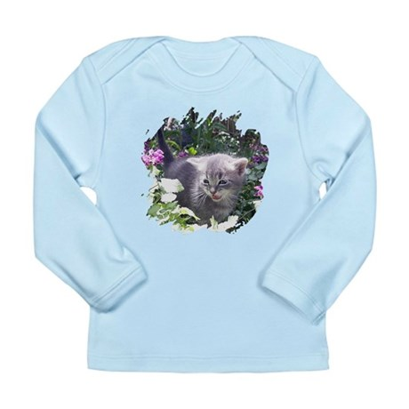 Flower Kitten Long Sleeve Infant T-Shirt