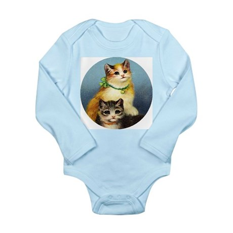 Cute Kittens Long Sleeve Infant Bodysuit