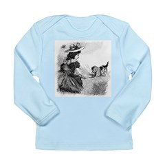 Girl and Kitten Long Sleeve Infant T-Shirt