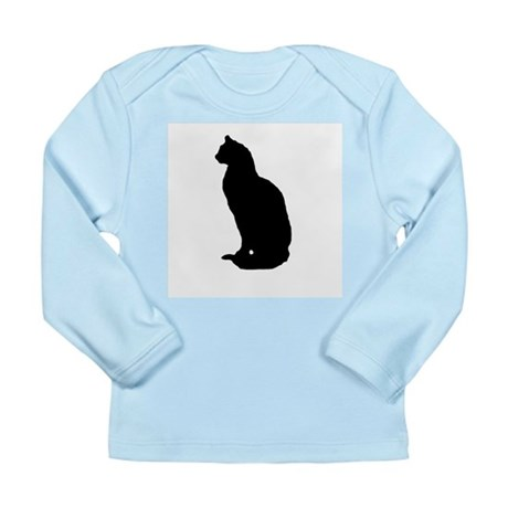 Cat Silhouette Long Sleeve Infant T-Shirt