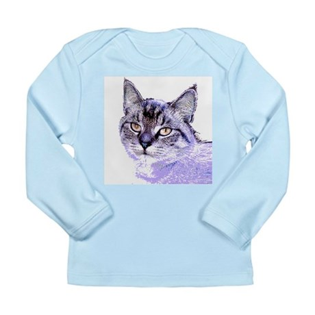 Purple Cat Long Sleeve Infant T-Shirt