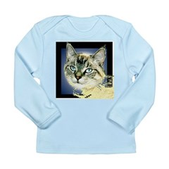 Blue Eyed Kitten Long Sleeve Infant T-Shirt