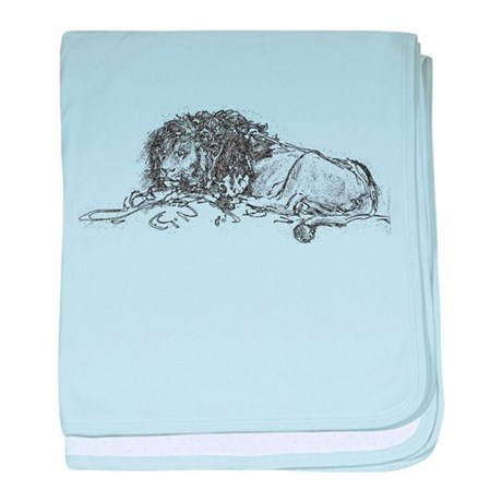 Lion Sketch baby blanket
