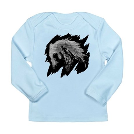 Horse Sketch Long Sleeve Infant T-Shirt