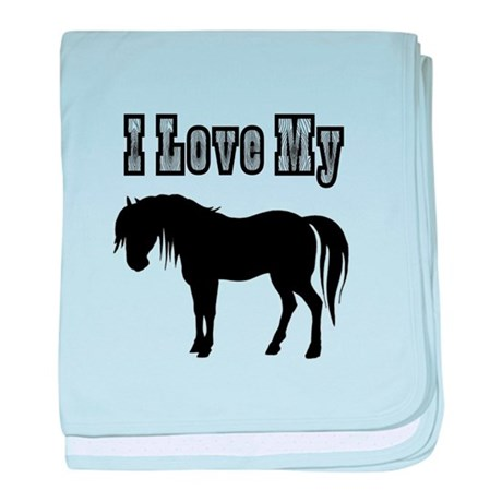 Love My Pony baby blanket
