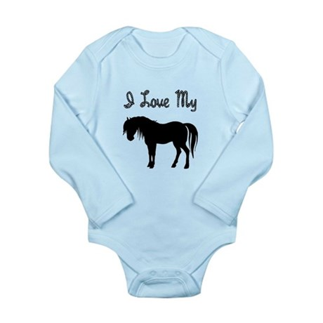 Love My Pony Long Sleeve Infant Bodysuit
