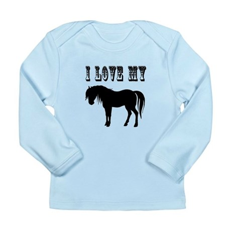 I Love My Pony Long Sleeve Infant T-Shirt