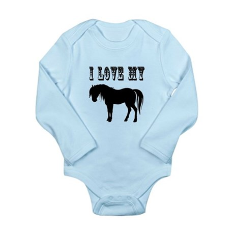 I Love My Pony Long Sleeve Infant Bodysuit