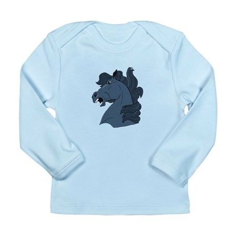 Blue Horse Long Sleeve Infant T-Shirt