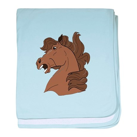 Brown Horse baby blanket