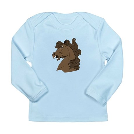 Brown Horse Long Sleeve Infant T-Shirt
