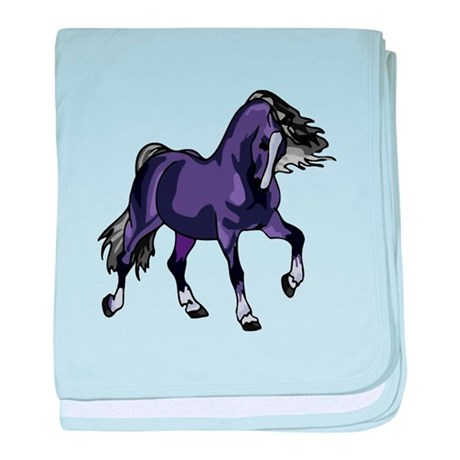 Fantasy Horse Purple baby blanket