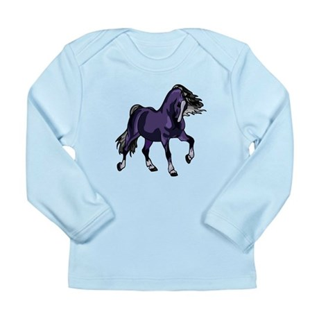 Fantasy Horse Purple Long Sleeve Infant T-Shirt