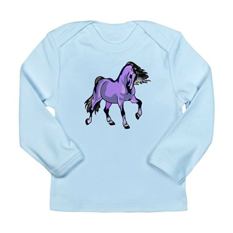 Fantasy Horse Lilac Long Sleeve Infant T-Shirt