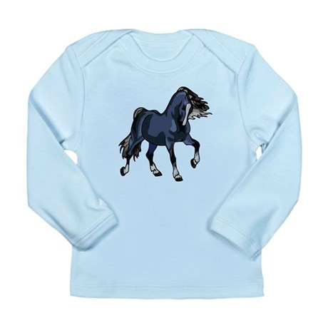 Fantasy Horse Blue Long Sleeve Infant T-Shirt