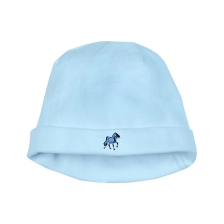 Fantasy Horse Light Blue baby hat
