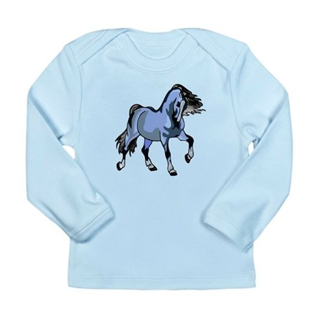 Fantasy Horse Light Blue Long Sleeve Infant T-Shir